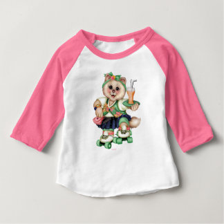 ROLLER CAT CUTE Baby American Apparel 3/4 Sleeve R Baby T-Shirt