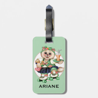 ROLLER CAT CUTE LUGGAGE TAG
