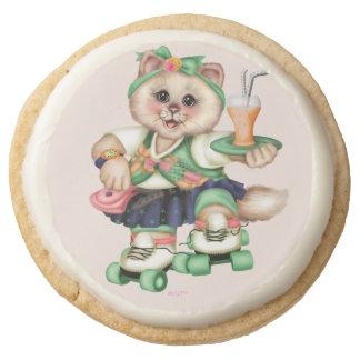 ROLLER CAT Shortbread Cookies Round - One Dozen