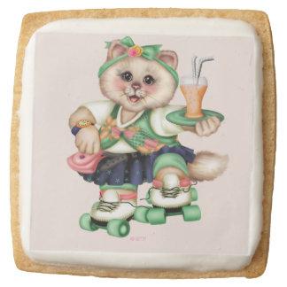 ROLLER CAT Shortbread Cookies Square - One Dozen