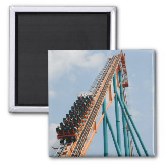 Roller Coaster 2 Inch Square Magnet