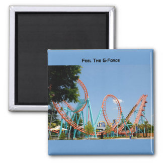 roller coaster 2 inch square magnet