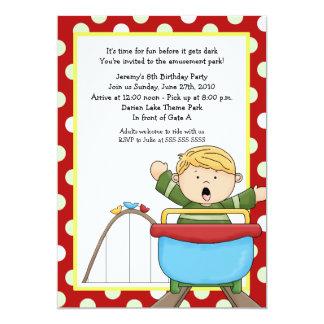 Roller Coaster Amusement Park 5x7 Birthday Card
