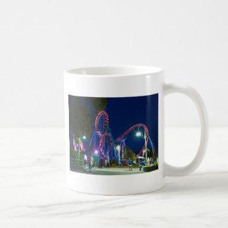 roller coaster amusement park coffee mug