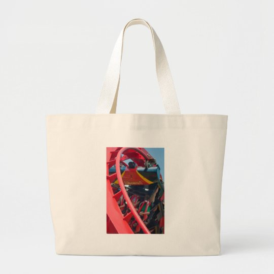 roller coaster amusement park large tote bag