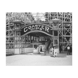 Roller Coaster at Glen Echo Park Photograph Canvas Print