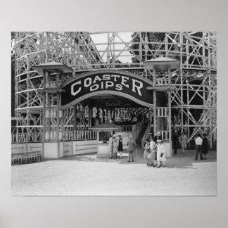 Roller Coaster at Glen Echo Park Photograph Poster