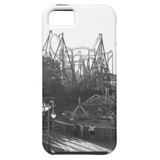Roller coaster blanco y negro funda para iPhone SE/5/5s