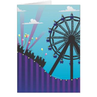 Roller Coaster Blank Greeting Card