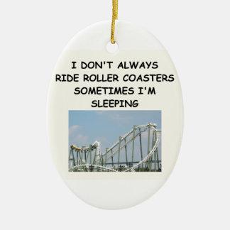 roller coaster ceramic ornament
