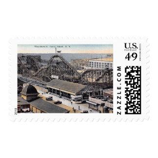Roller Coaster, Coney Island, New York Vintage Postage