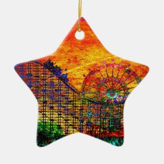 Roller coaster adorno de cerámica en forma de estrella