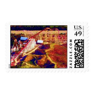 Roller Coaster Digital Festival Stamp