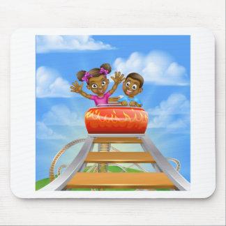 Roller Coaster Fair Theme Park Mouse Pad