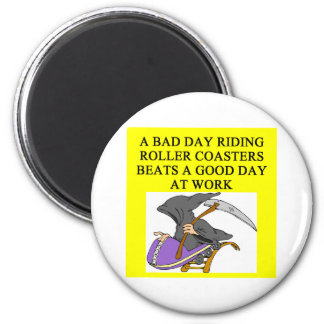 roller coaster fanatic 2 inch round magnet