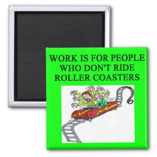 roller coaster fanatic 2 inch square magnet