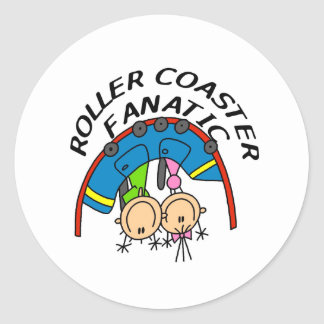 Roller Coaster Fanatic Classic Round Sticker