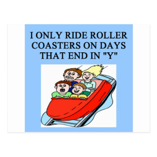 roller coaster fanatic postcard