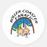 Roller Coaster Fanatic Round Sticker