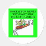 roller coaster fanatic sticker