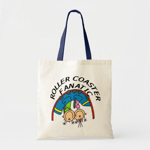 Roller Coaster Fanatic Tshirts and Gifts Canvas Bags