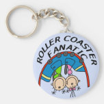 Roller Coaster Fanatic Tshirts and Gifts Key Chain