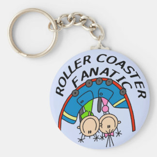 Roller Coaster Fanatic Tshirts and Gifts Keychain
