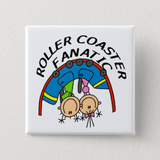 Roller Coaster Fanatic Tshirts and Gifts Pinback Button