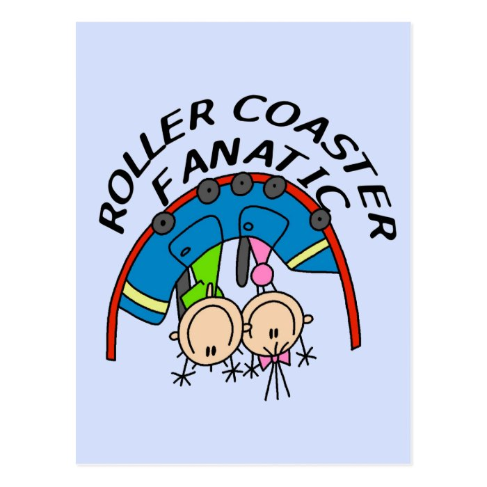 Roller Coaster Fanatic Tshirts and Gifts Postcard