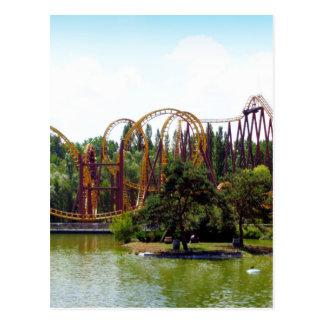 Roller Coaster in France Postcard