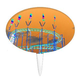 roller coaster invert orange sky cake topper