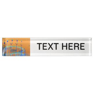 roller coaster invert orange sky name plate