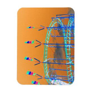 roller coaster invert orange sky magnet