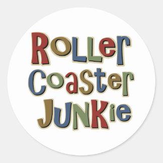 Roller Coaster Junkie Classic Round Sticker