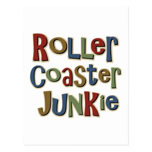 Roller Coaster Junkie Post Card