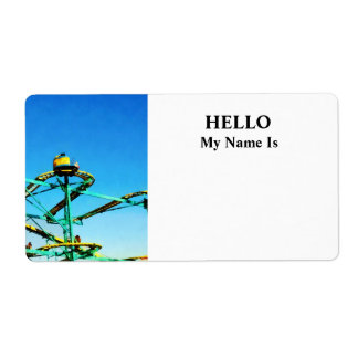 Roller Coaster Shipping Label