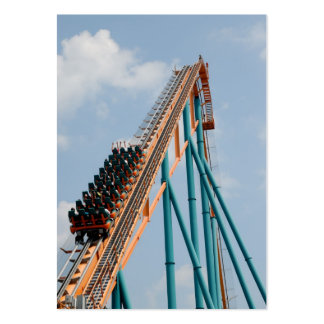 Roller Coaster Large Business Card