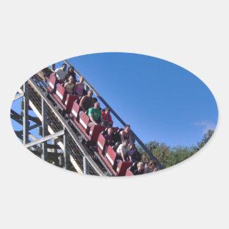 Roller Coaster Oval Sticker