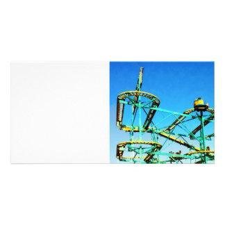 Roller Coaster Customized Photo Card