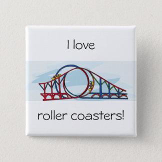 Roller Coaster Pinback Button