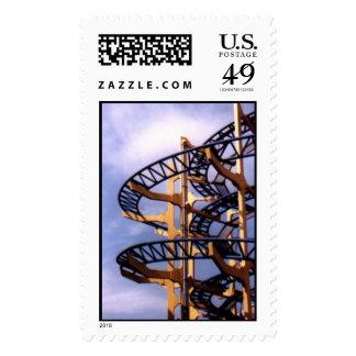 Roller Coaster Postage Stamp