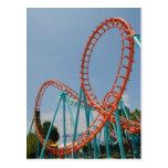 Roller Coaster Postcard