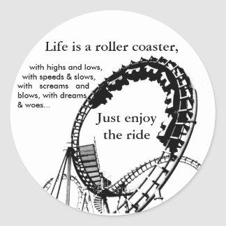 Roller Coaster Ride Classic Round Sticker