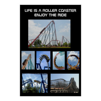 Roller Coaster Ride Poster