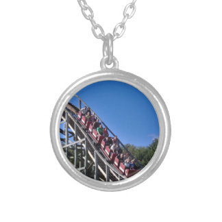 Roller Coaster Silver Plated Necklace