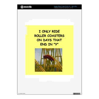 roller coaster iPad 3 decals