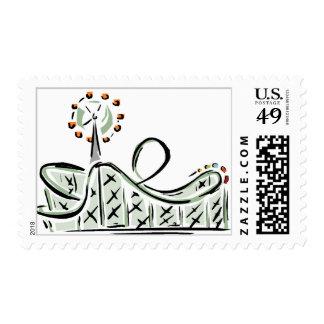 Roller Coaster Stamp