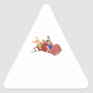 Roller Coaster Triangle Stickers
