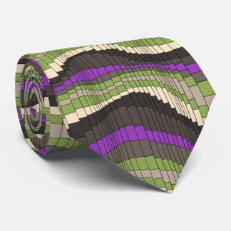 Roller Coaster Striped Two-sided Tie