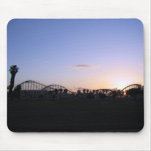 Roller Coaster Sunset Mouse Pad